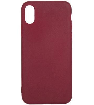 ADEL Siliconen Back Cover Hoesje voor iPhone XS/X - Kastanjerood