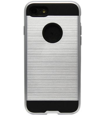 ADEL Aluminium Back Cover Hoesje voor iPhone SE (2020)/ 8/ 7 - Zilver