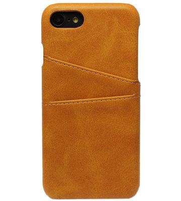 ADEL Kunstleren Back Cover Hoesje voor iPhone SE (2020)/ 8/ 7 - Pasjeshouder Bruin