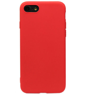ADEL Siliconen Back Cover Hoesje voor iPhone SE (2020)/ 8/ 7 - Rood