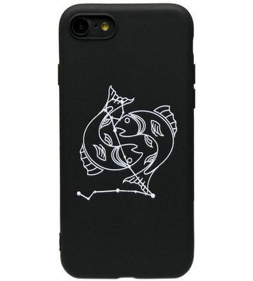ADEL Siliconen Back Cover Hoesje voor iPhone SE (2020)/ 8/ 7 - Sterrenbeeld Vissen