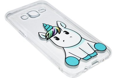 Eenhoorn siliconen hoesje Samsung Galaxy J7 (2015)