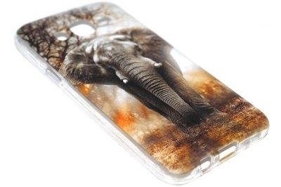 Olifanten siliconen hoesje Samsung Galaxy J7 (2015)