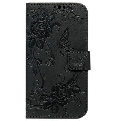 ADEL Kunstleren Book Case hoesje voor Samsung Galaxy J3 (2015)/ J3 (2016) - Vlinder Zwart