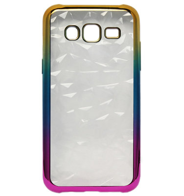 ADEL Siliconen Back Cover Softcase Hoesje voor Samsung Galaxy J7 (2015) - Bling Bling Diamanten