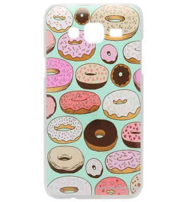 ADEL Kunststof Back Cover Hardcase Hoesje voor Samsung Galaxy J7 (2015) - Donuts