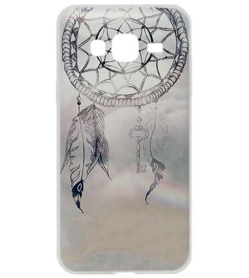 ADEL Siliconen Back Cover Softcase Hoesje voor Samsung Galaxy J7 (2015) - Dromenvanger Lichtblauw