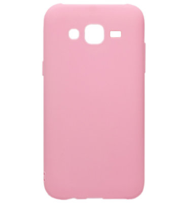 ADEL Siliconen Back Cover Softcase Hoesje voor Samsung Galaxy J7 (2015) - Roze