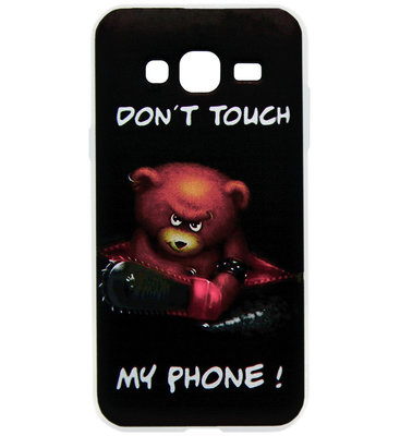 ADEL Siliconen Back Cover Softcase Hoesje voor Samsung Galaxy J7 (2015) - Don't Touch My Phone Beer