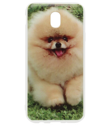 ADEL Siliconen Back Cover Softcase Hoesje voor Samsung Galaxy J7 (2017) - Dwergkees Hond