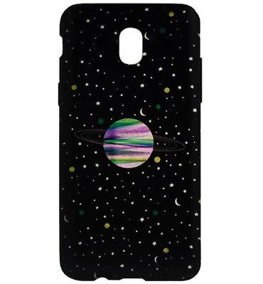 ADEL Siliconen Back Cover Softcase Hoesje voor Samsung Galaxy J7 (2017) - Heelal Universum