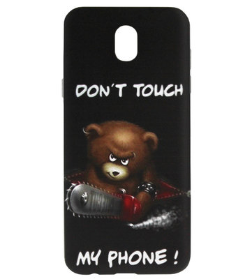 ADEL Siliconen Back Cover Softcase Hoesje voor Samsung Galaxy J7 (2017) - Don't Touch My Phone Beren