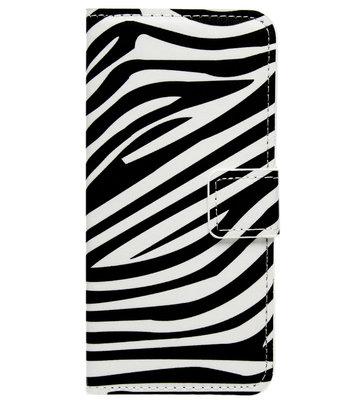ADEL Kunstleren Book Case Hoesje voor Samsung Galaxy J7 (2017) - Zebra