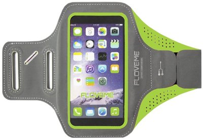 FLOVEME Sportarmband 5.5 Inch Microfiber Hoesje voor Samsung Galaxy S5 (Plus)/ S5 Neo/ S6 (Edge)/ S7 (Edge)/ S8 (Plus)/ S9 (Plus)/ S10 (Plus)/ S10 Lite - Groen