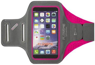 FLOVEME Sportarmband 5.5 Inch Microfiber Hoesje voor Samsung Galaxy S5 (Plus)/ S5 Neo/ S6 (Edge)/ S7 (Edge)/ S8 (Plus)/ S9 (Plus)/ S10 (Plus)/ S10 Lite - Roze