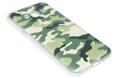 Camouflage hoesje siliconen Samsung Galaxy J3 (2015) / J3 (2016)