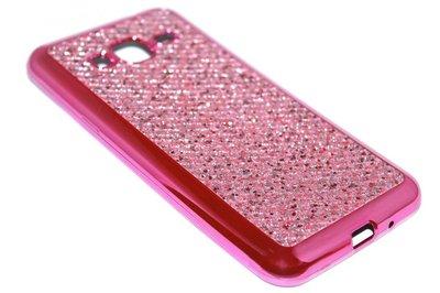 Bling bling hoesje roze Samsung Galaxy J3 (2015) / J3 (2016)