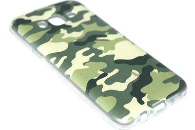 Camouflage hoesje siliconen Samsung Galaxy J7 (2015)