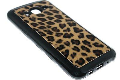 Luipaard back cover bruin Samsung Galaxy J7 (2015)