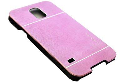 Aluminium hoesje roze Samsung Galaxy S5 (Plus) / Neo