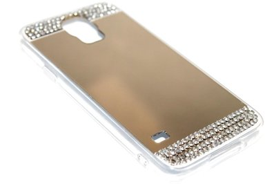 Spiegel diamanten hoesje goud Samsung Galaxy S5 (Plus) / Neo