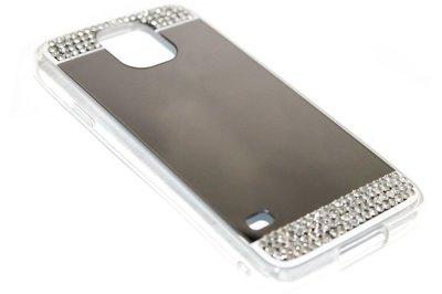 Spiegel diamanten hoesje zilver Samsung Galaxy S5 (Plus) / Neo
