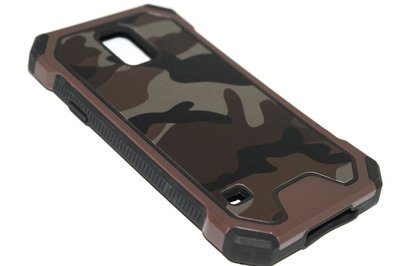 Camouflage hoesje bruin Samsung Galaxy S5 (Plus) / Neo