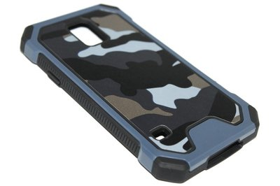 Camouflage hoesje blauw Samsung Galaxy S5 (Plus) / Neo