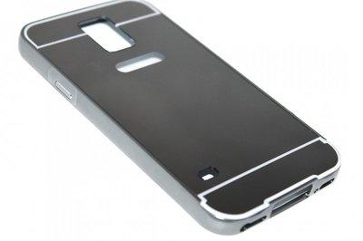 Spiegel hoesje aluminium zwart Samsung Galaxy S5 (Plus) / Neo