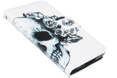 Schedel hoesje kunstleer Samsung Galaxy S5 (Plus) / Neo