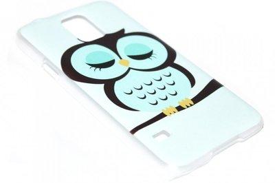 Uilen hoesje kunststof blauw Samsung Galaxy S5 (Plus) / Neo