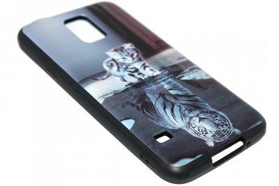Poezen schaduw tijger hoesje Samsung Galaxy S5 (Plus) / Neo