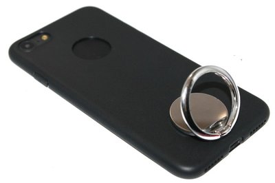 Zilvere telefoonhouder met ring universeel