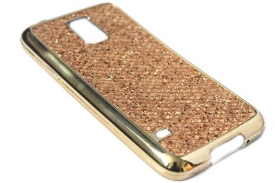 Bling bling hoesje goud Samsung Galaxy S5 (Plus) / Neo