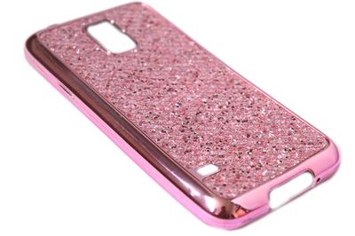 Bling bling hoesje roze Samsung Galaxy S5 (Plus) / Neo