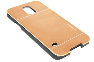 Aluminium hoesje goud Samsung Galaxy S5 (Plus) / Neo