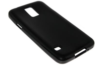 Siliconen hoesje zwart Samsung Galaxy S5 (Plus) / Neo