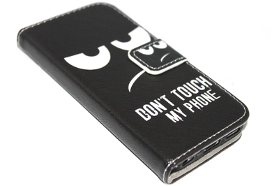 Don't touch my phone hoesje kunstleer Samsung Galaxy S5 (Plus) / Neo