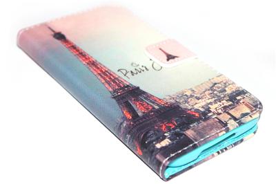 Parijs Eiffeltoren hoesje kunstleer Samsung Galaxy S5 (Plus) / Neo