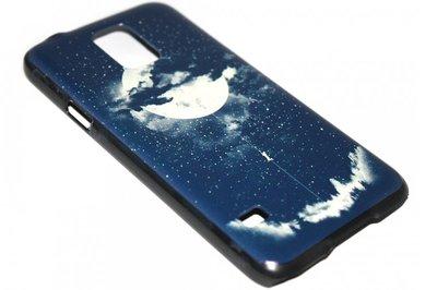Eclipse maan en aarde hoesje Samsung Galaxy S5 (Plus) / Neo