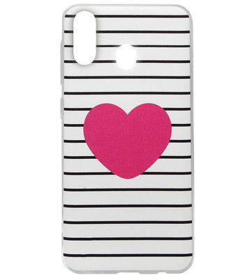 ADEL Siliconen Back Cover Softcase Hoesje voor Samsung Galaxy A40 - Hartje