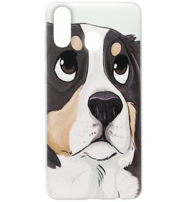 ADEL Siliconen Back Cover Softcase Hoesje voor Samsung Galaxy A40 - Berner Sennenhond
