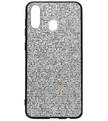 ADEL Siliconen Back Cover Softcase Hoesje voor Samsung Galaxy A40 - Bling Bling Zilver