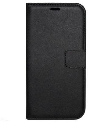 ADEL Kunstleren Book Case Hoesje voor Samsung Galaxy A40 - Zwart