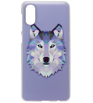 ADEL Kunststof Back Cover Hardcase Hoesje voor Samsung Galaxy A50(s)/ A30s - Wolf Paars