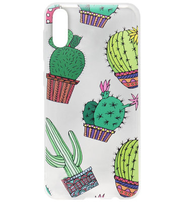 ADEL Siliconen Back Cover Softcase Hoesje voor Samsung Galaxy A50(s)/ A30s - Cactus