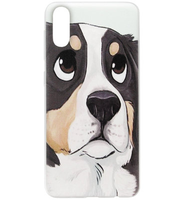 ADEL Siliconen Back Cover Softcase Hoesje voor Samsung Galaxy A50(s)/ A30s - Berner Sennenhond
