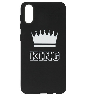 ADEL Siliconen Back Cover Softcase Hoesje voor Samsung Galaxy A50(s)/ A30s - King Zwart