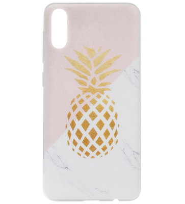 ADEL Siliconen Back Cover Softcase Hoesje voor Samsung Galaxy A50(s)/ A30s - Ananas