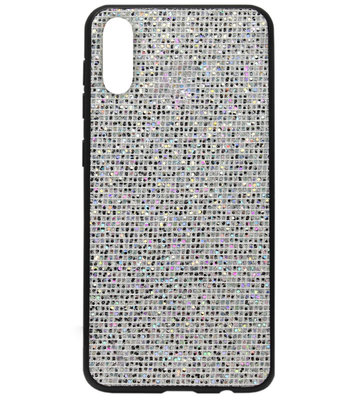 ADEL Siliconen Back Cover Softcase Hoesje voor Samsung Galaxy A50(s)/ A30s - Bling Bling Zilver